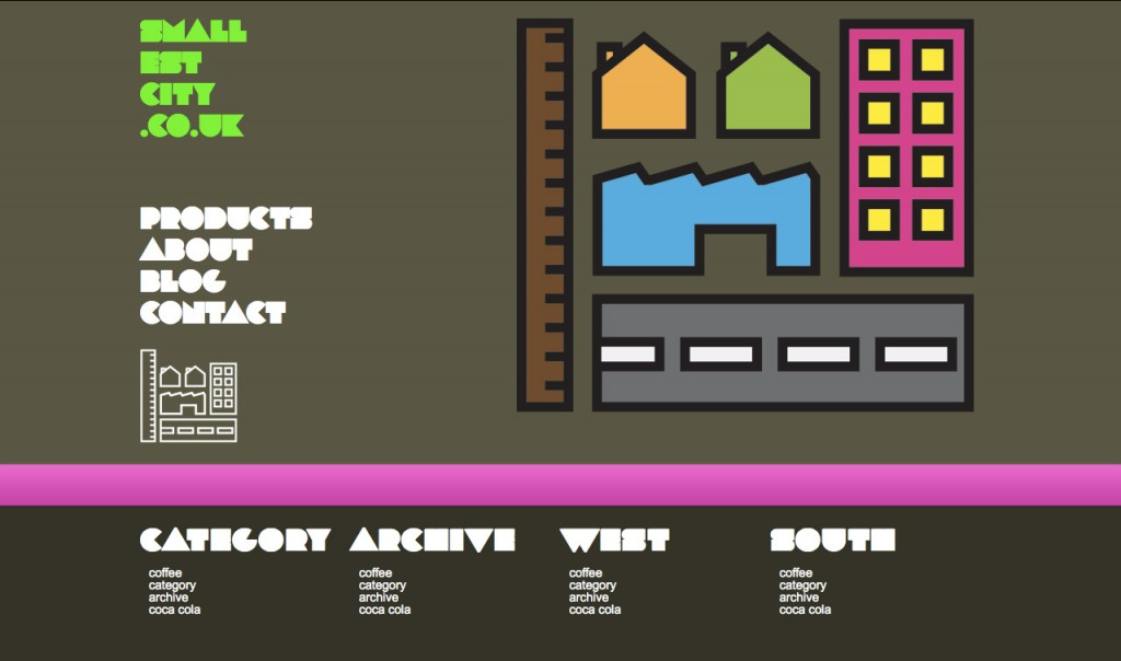 smallest city studio website layout proposal